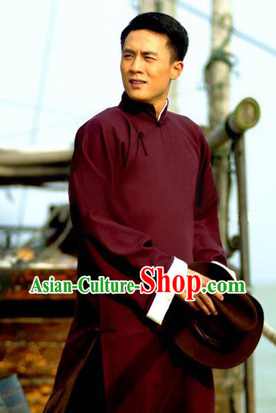 Traditional Chinese Minguo Long Robe for Men