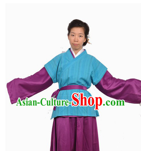 Ancient Chinese Civilian Farmer Costumes for Women
