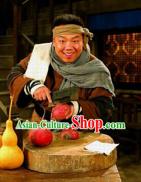 Ancient Chinese Cook Blouse Pants Headband Skirt and Scarf Complete Set