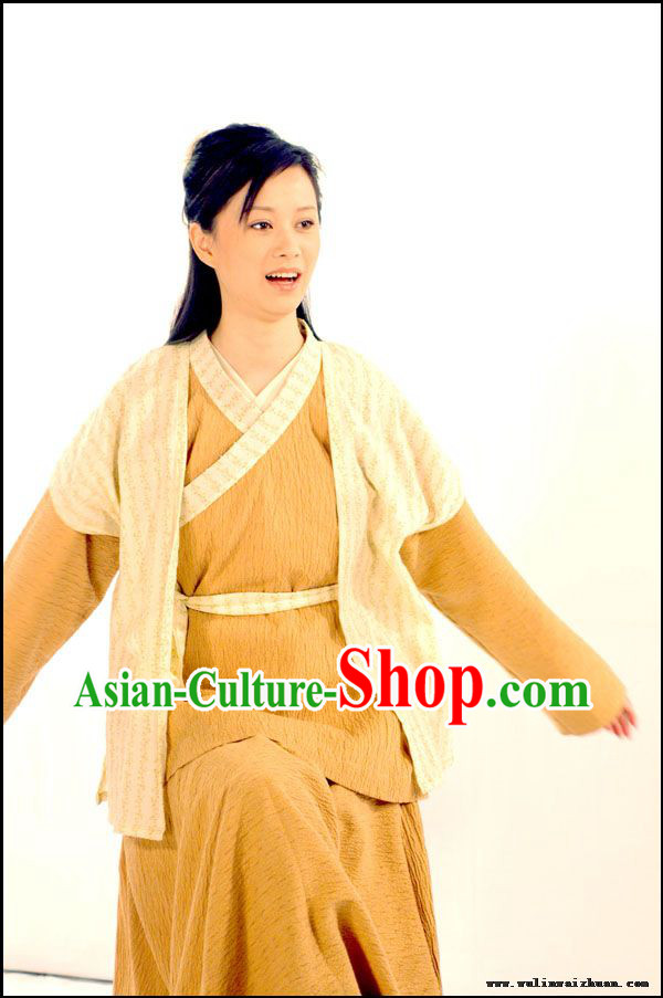 Ancient Chinese Civilian Han Fu Clothing Complete Set for Women
