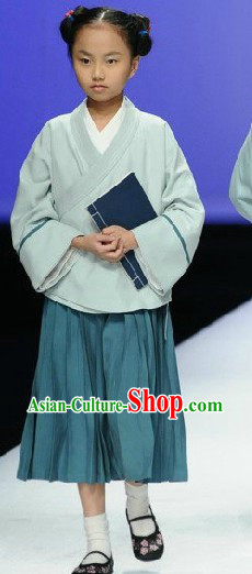 Chinese Classic Hanfu Clothing Complete Set for Kids