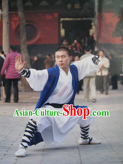 Traditional Chinese Henan Shaolin Martial Arts Master Clothing for Men