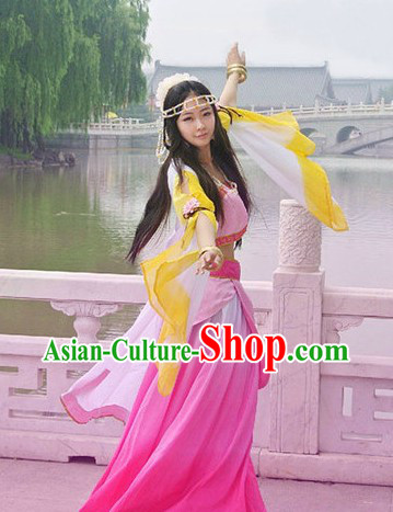 Ancient Chinese Pink Princess Costume for Women