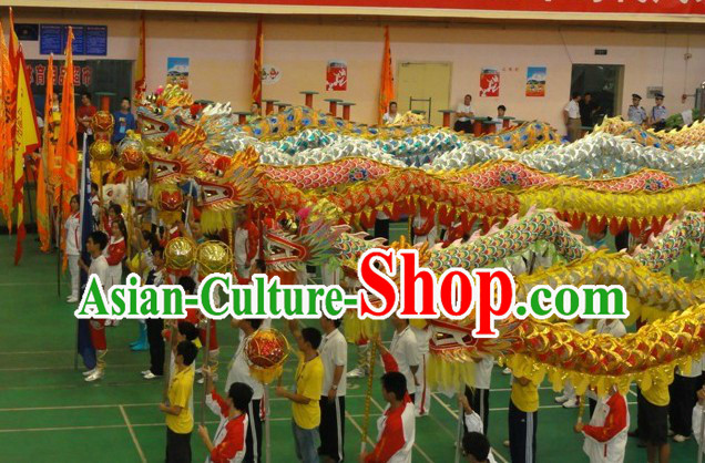 Chinese Classic Dragon Dance Costumes Eight Sets