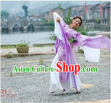 Ancient Chinese Purple Palace Dance Costumes for Women