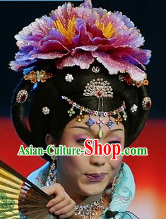 Ancient Chinese Tang Dynasty Imperial Empress Wig Set