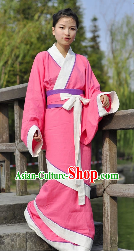 Ancient Chinese Style Pink Hanfu Clothing for Women