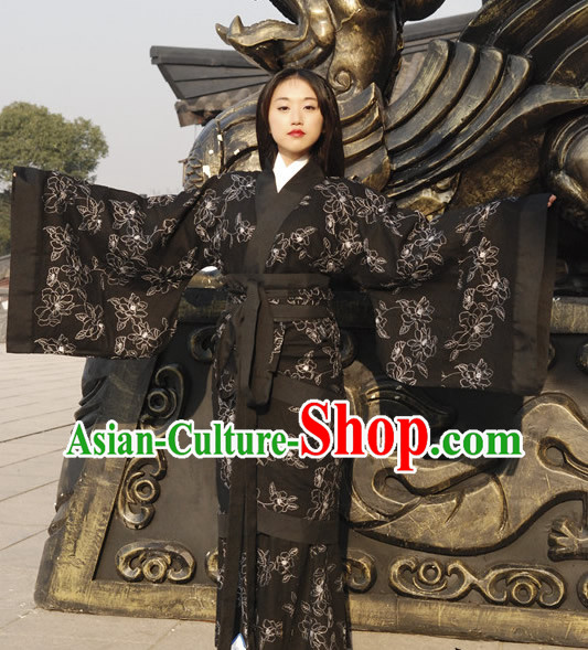 Ancient Chinese Black Hanfu Female Clothing