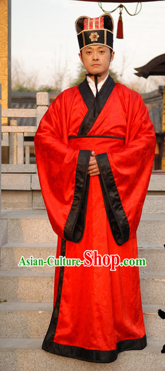 Ancient Chinese Han Bridegroom Wedding Dress for Men