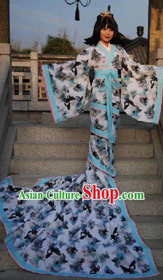 Ancient Chinese Fish Tail Butterfly Clothing Complete Set