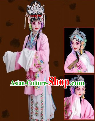 Long Sleeve Chinese Opera Embroidered Costume for Women