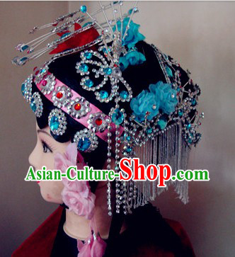 Traditional Chinese Dramatic Opera Wig and Hair Accessories Set for Women