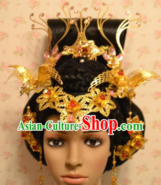 Ancient Chinese Empress Hair Accessories and Earrings
