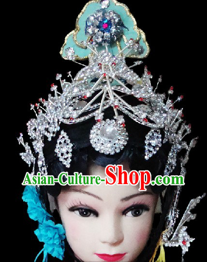 Traditional Chinese Dramatic Empress Wig and Headpiece Set
