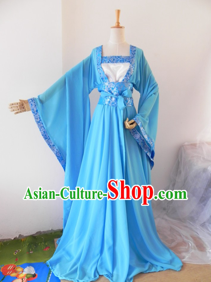 Chinese Classical Blue Costumes for Women