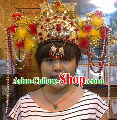 Chinese Classical Palace Wedding Phoenix Hat for Brides