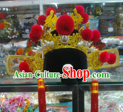 Chinese Classical Bridegroom Wedding Hat