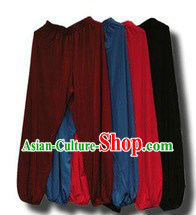 Traditional Chinese Tai Chi Silk Pants