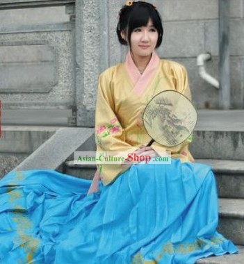 Ancient Chinese Ming Dynasty Hanfu Attire Complete Set for Women