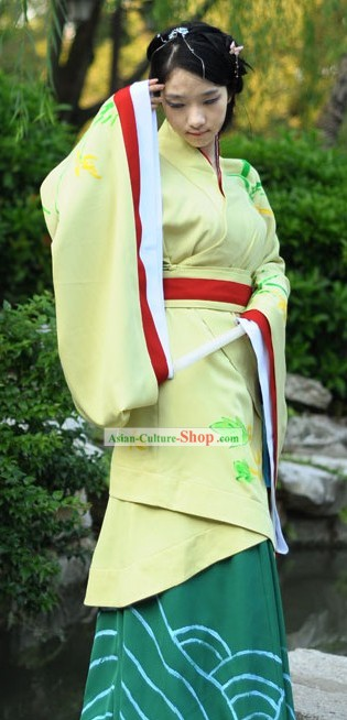 Traditional Chinese Han Dynasty Quju Clothing for Women