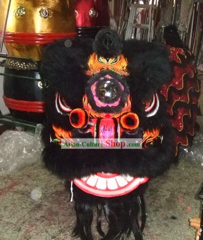 Competition and Parade Lion Mask and Costumes Complete Set