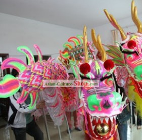 Supreme Competition and Parade Glow in the Dark Dragon Dance Costume Complete Set