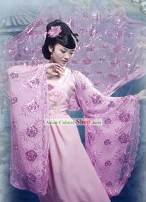Ancient Chinese Purple Fairy Costumes