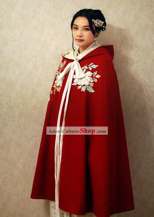 Ancient Chinese Red Princess Cape