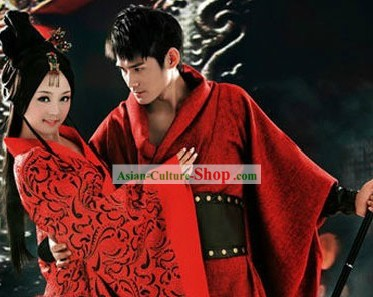 Ancient Chinese Beauty and Hero Costumes 2 Sets