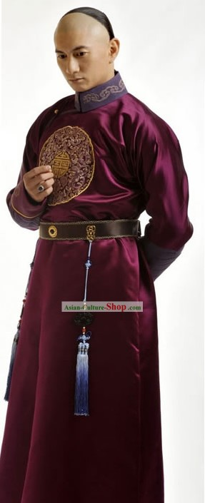 Ancient Chinese Qing Dynasty Prince Costume Complete Set