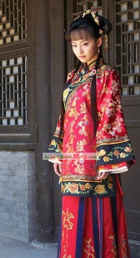Chinese Classical Bride Wedding Dress Complete Set