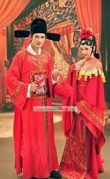 Traditional Chinese Wedding Dress Two Complete Sets for Men and Women