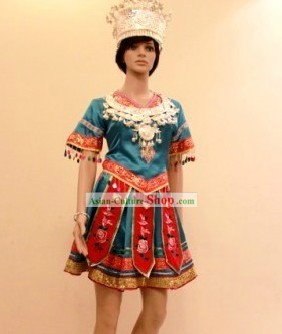 Traditional Chinese Miao Zu Dance Costume for Women