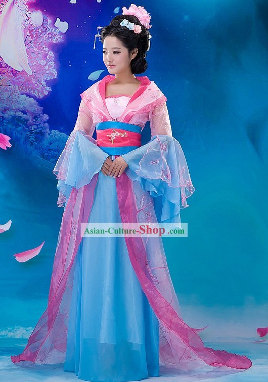 Ancient Chinese Fairy Costume and Hair Accessories for Women