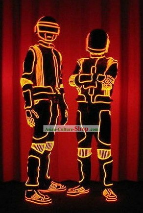Electric LED Lights Luminous Dance Parade Costume Complete Set