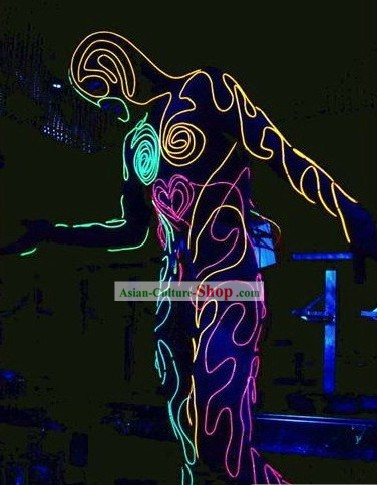 Electric LED Lights Luminous Dance Costumes