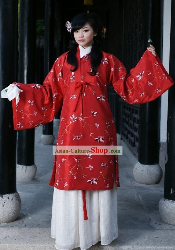 Ancient Ming Dynasty Wedding Dress for Women