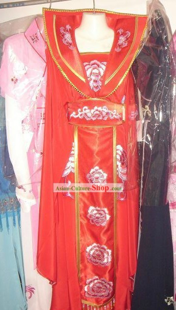 Ancient High Collar Embroidered Flower Wedding Costume
