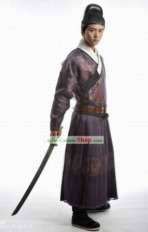 Ancient Chinese Palace Guard Costumes and Hat for Men