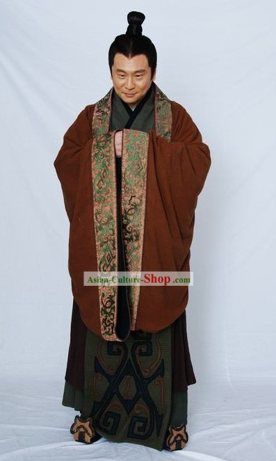 Ancient Chinese Qin Chao Minister Costumes for Men