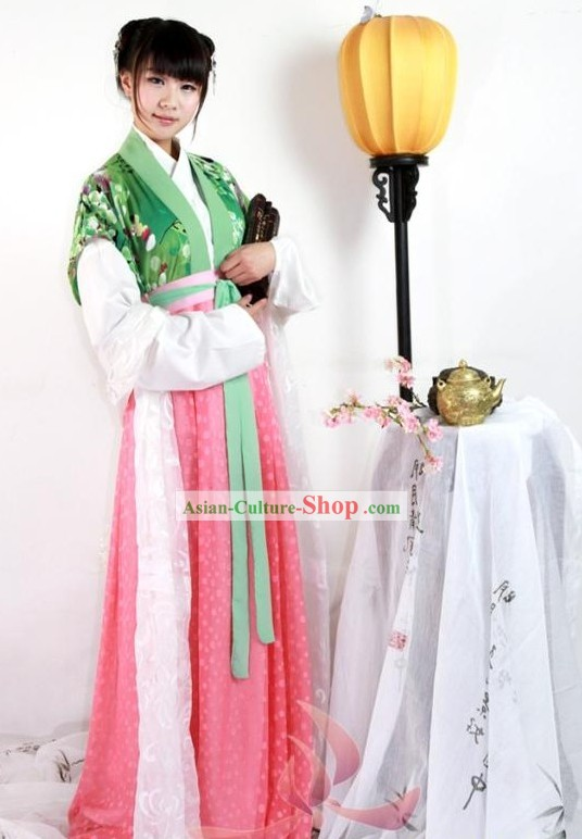 Traditional Chinese Han Clothing for Girls