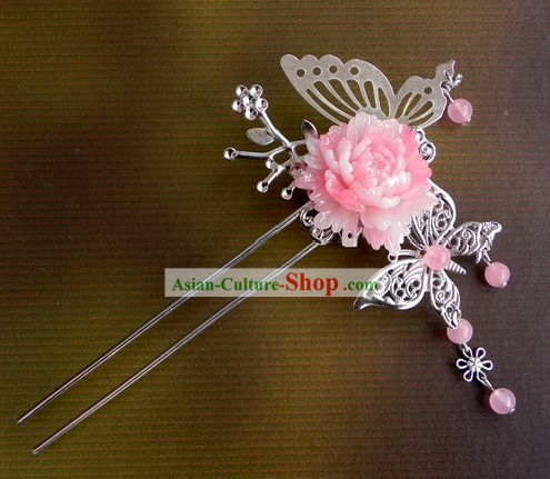 Traditional Chinese Handmade Butterfly Flower Hairpin