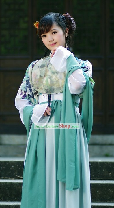 Ancient Chinese Fan Dance Costumes for Women