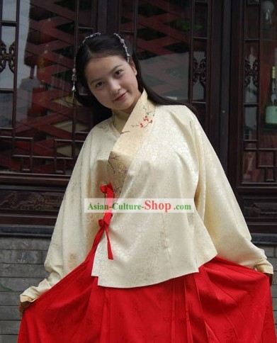 Ancient Chinese Ming Dynasty Hanfu Clothing for Women