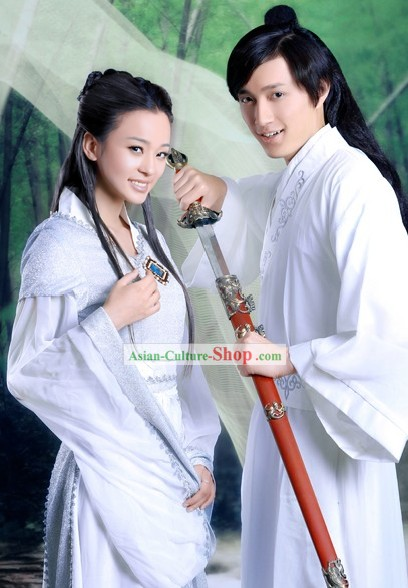 Ancient Chinese Swordsman Couple Two Complete Sets for Men and Women
