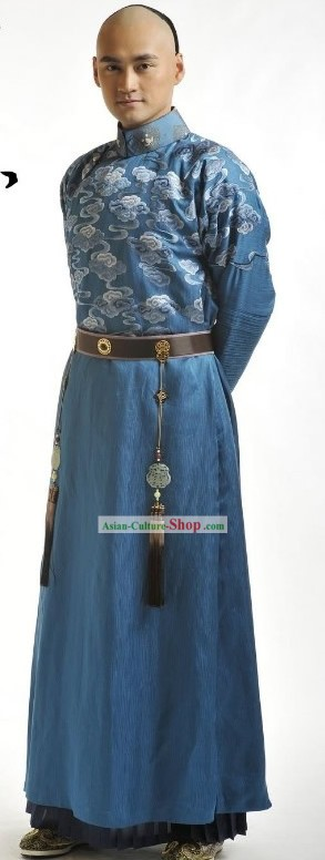 Ancient Chinese Prince Embroidered Cloud Clothing Complete Set