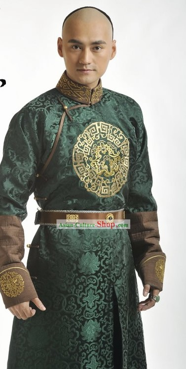 Ancient Chinese Prince Embroidered Costumes Complete Set