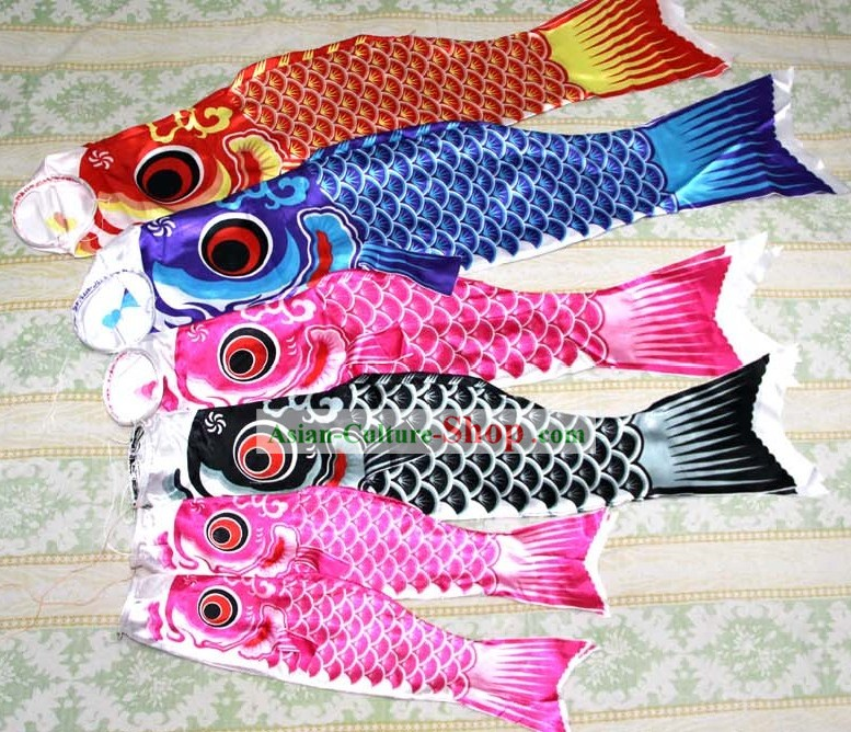 Japanese Style Carp Streamers Carp banners Fish Flag Decoration