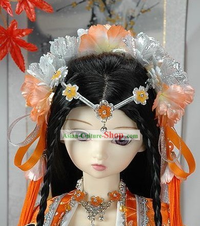 Ancient Chinese Palace Princess Hair Accessories and Long Wig