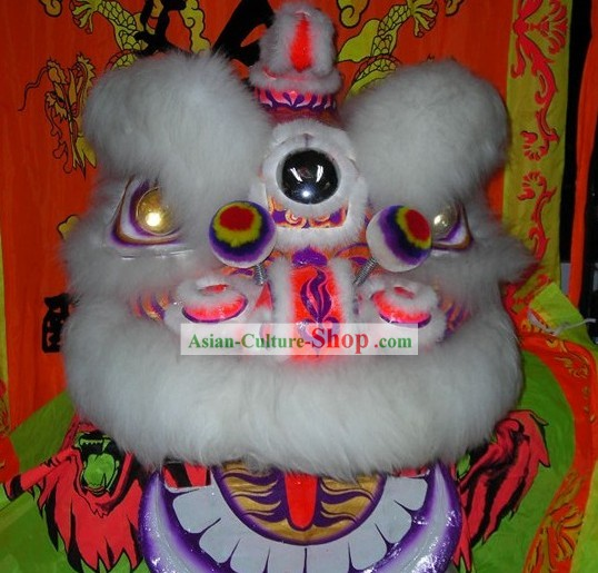 LED Eyes Supreme Hok San Lion Dance Costumes Complete Set